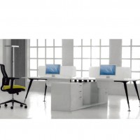 产地货源办公桌 屏风组合办公桌 公司员工电脑桌 6人位办公桌