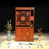 和谐xg110  非洲花梨木新中式古典玄关隔断屏风靠墙柜110cm*38*200