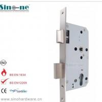 现货!欧标防火门锁体不锈钢304插芯锁德国DIN标准5560